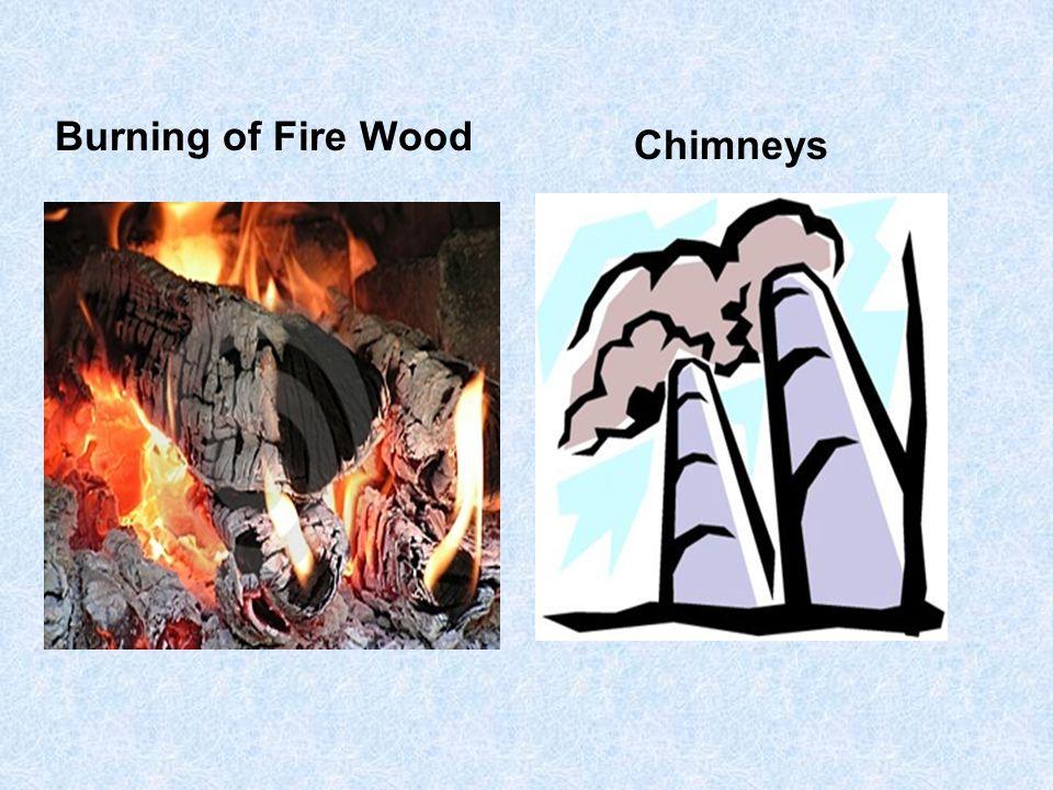 Burning of Fire Wood Chimneys