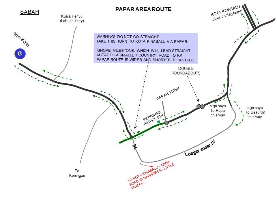 SABAH PAPAR AREA ROUTE BEAUFORT KOTA KINABALU (dual carriageway) PETRONAS PETROL STN.