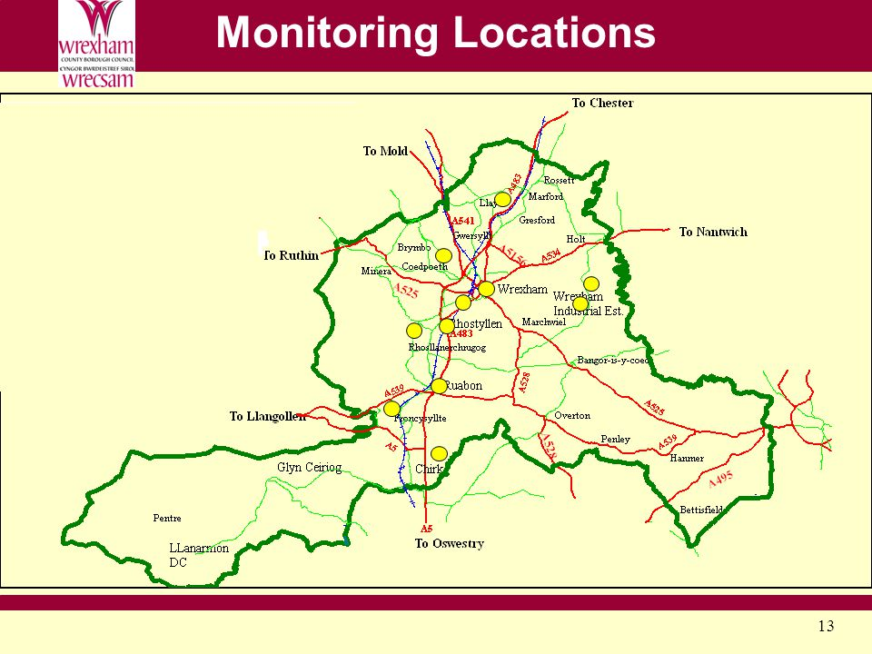 13 Monitoring Locations