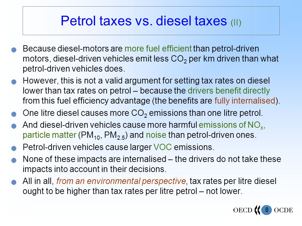 8 Petrol taxes vs.