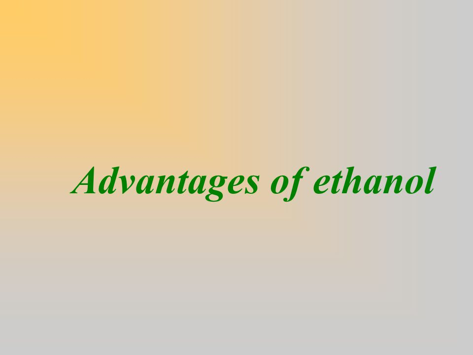 Negative technical dimensions (cont.)  Ethanol can absorb water & if water enters the fuel tank - It dilutes ethanol, reducing its value as a fuel; - It causes problems with corrosion and phase separation in the gasoline mixture.