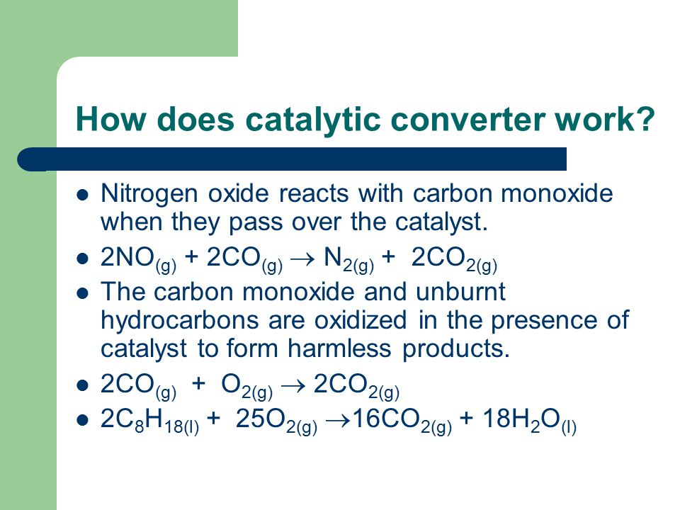 How does catalytic converter work.