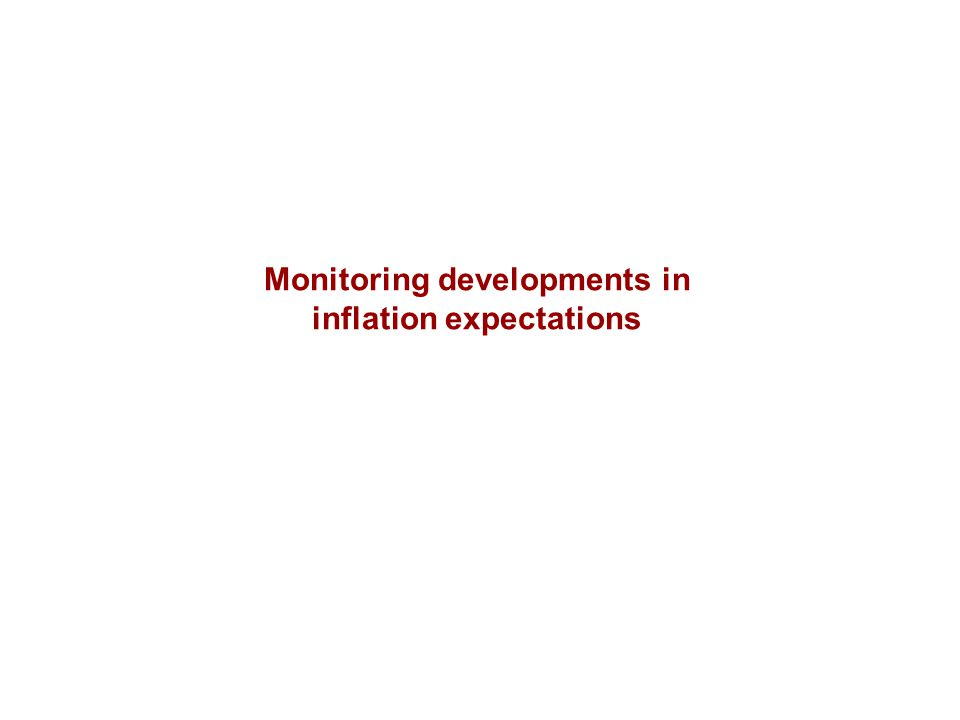 Monitoring developments in inflation expectations