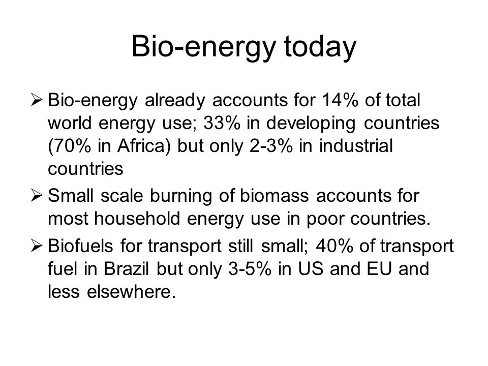 Top producers of biofuels in 2005 (million liters) CountryEthanolBiodiesel USA16,230290 Brazil16,500 China2,000 EU950 India300 Germany1,920 France511 Italy227