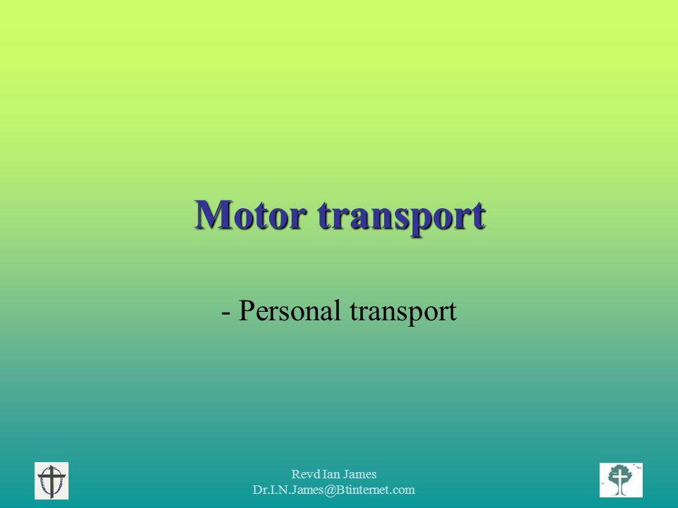 Revd Ian James Dr.I.N.James@Btinternet.com Car use Typical fuel consumption.