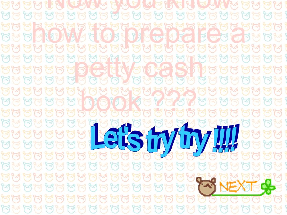 Now you know how to prepare a petty cash book ???