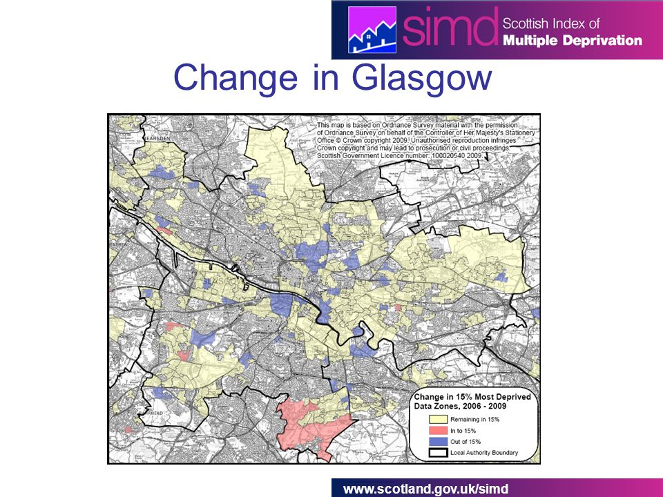 www.scotland.gov.uk/simd Change in Glasgow
