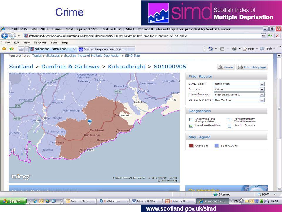 www.scotland.gov.uk/simd Crime