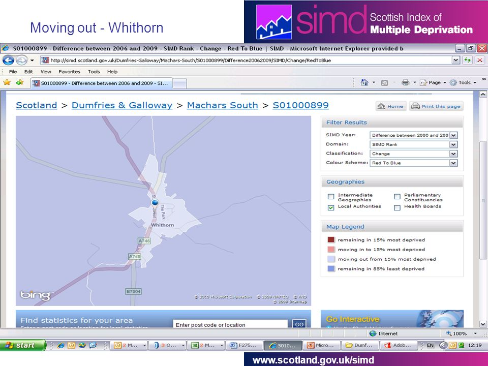 www.scotland.gov.uk/simd Moving out - Whithorn
