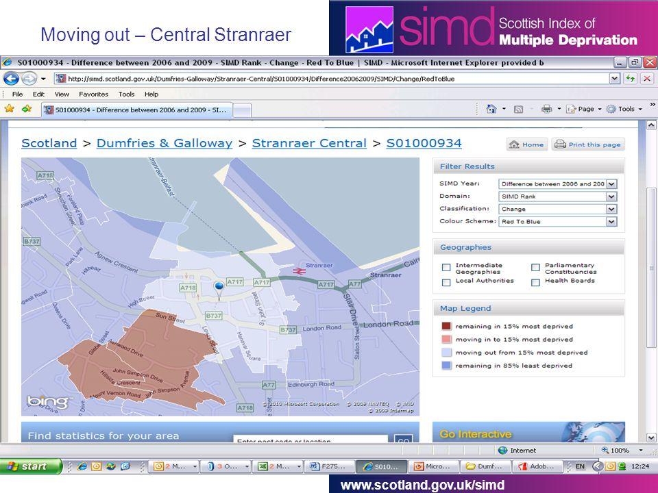 www.scotland.gov.uk/simd Moving out – Central Stranraer