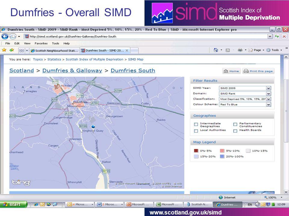 www.scotland.gov.uk/simd Dumfries - Overall SIMD