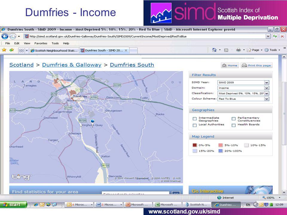 www.scotland.gov.uk/simd Dumfries - Income