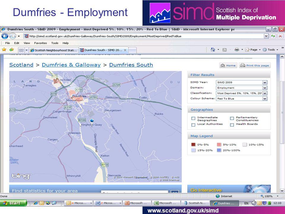 www.scotland.gov.uk/simd Dumfries - Employment