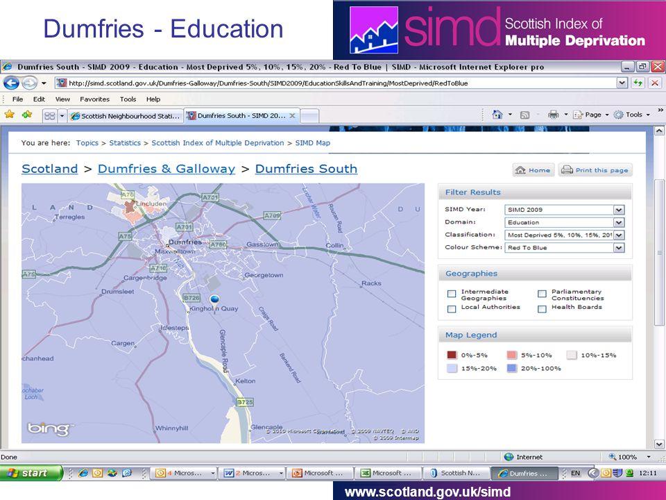 www.scotland.gov.uk/simd Dumfries - Education