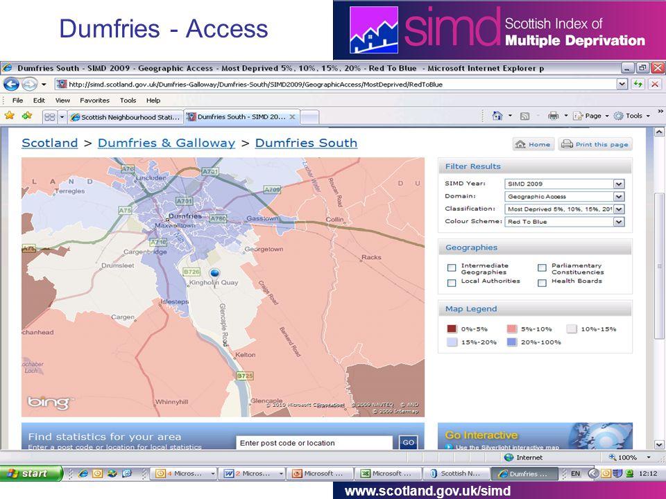 www.scotland.gov.uk/simd Dumfries - Access