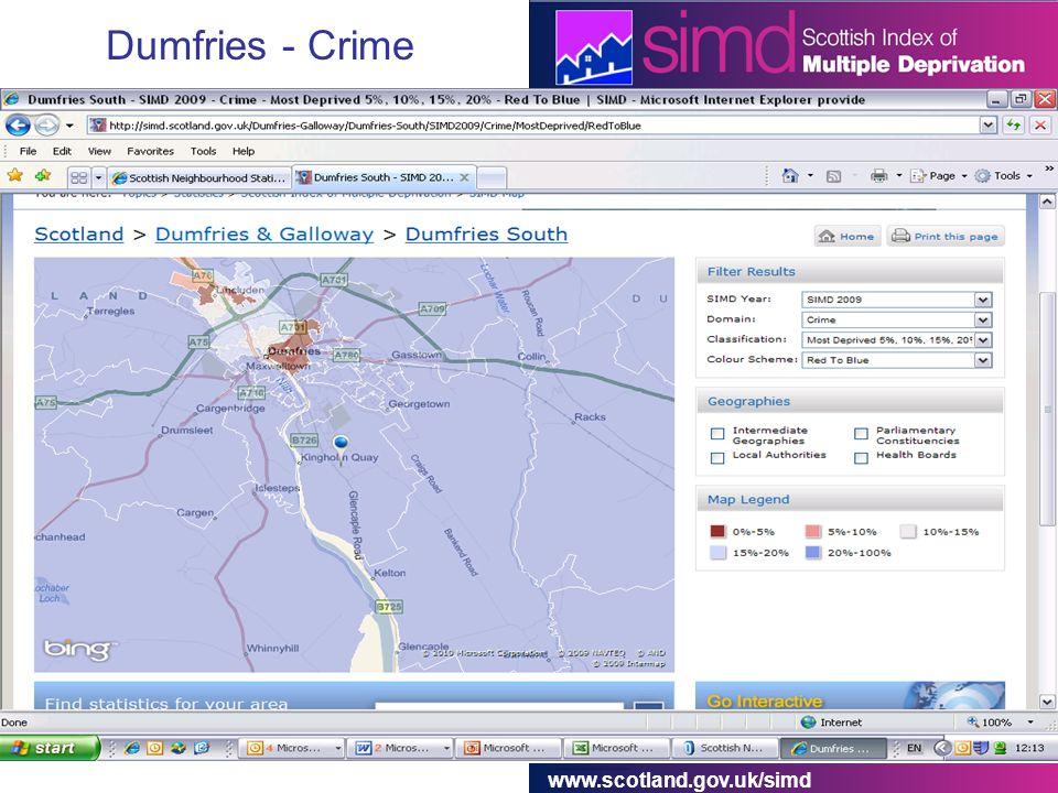 www.scotland.gov.uk/simd Dumfries - Crime