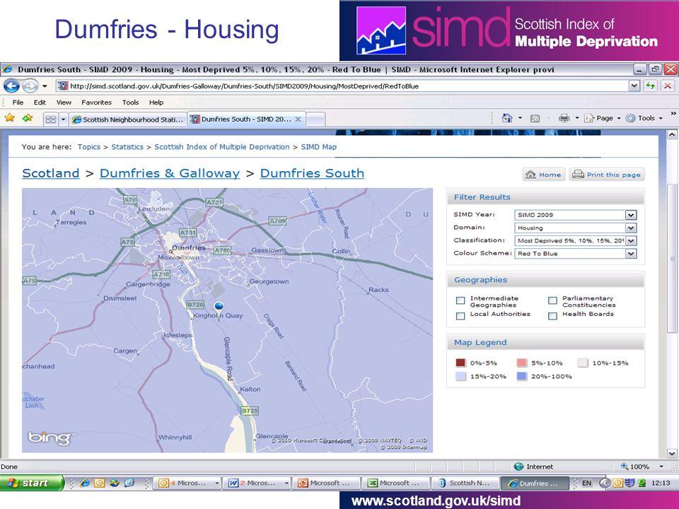 www.scotland.gov.uk/simd Dumfries - Housing