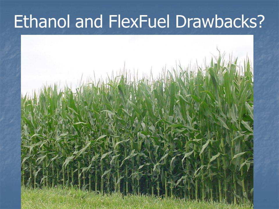 Ethanol and FlexFuel Drawbacks