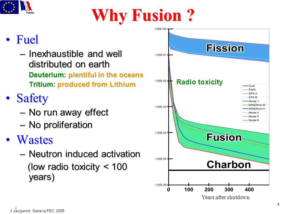 J Jacquinot, Geneva FEC 2008 4 4 Why Fusion .