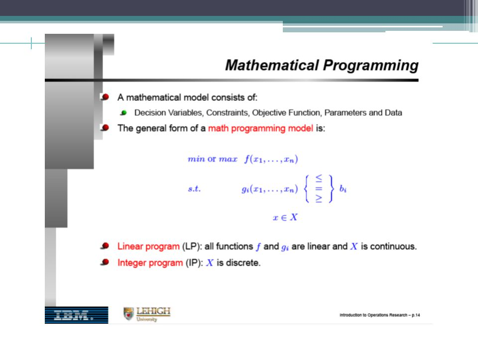 Dynamic Programming – Recursive formula (forward, Backward) A state k is the information that is needed at any stage to make an optimal decision.