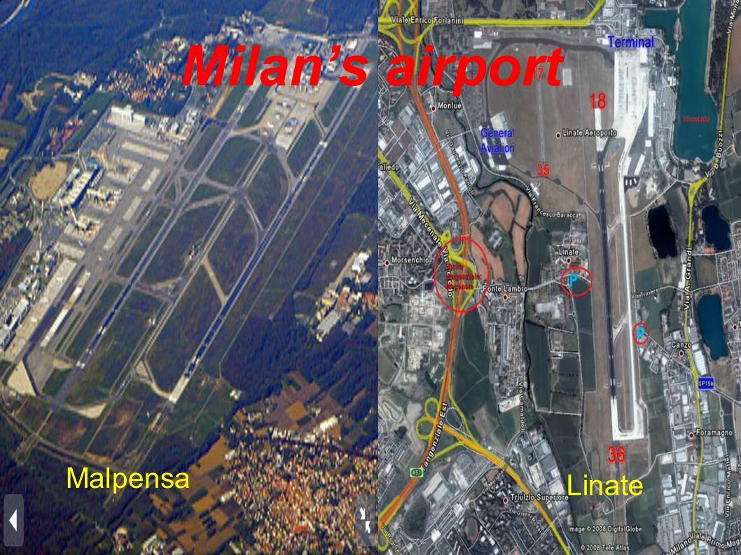 Milan's airport Malpensa Linate