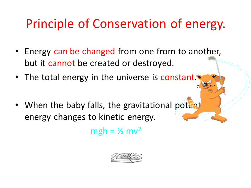 Principle of Conservation of energy.