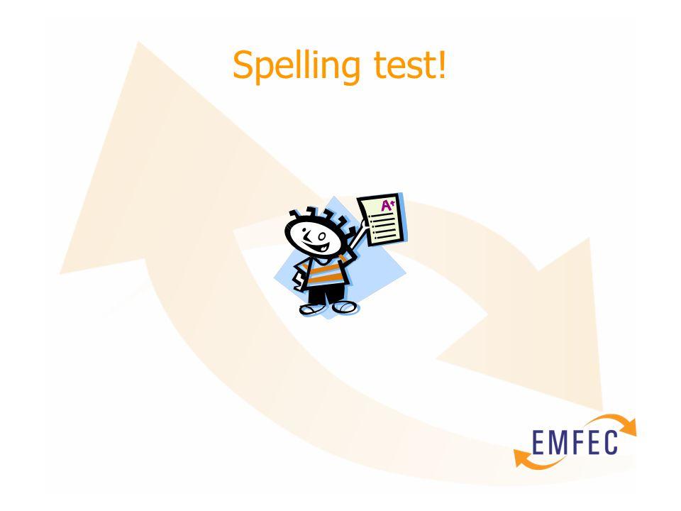 Spelling test!