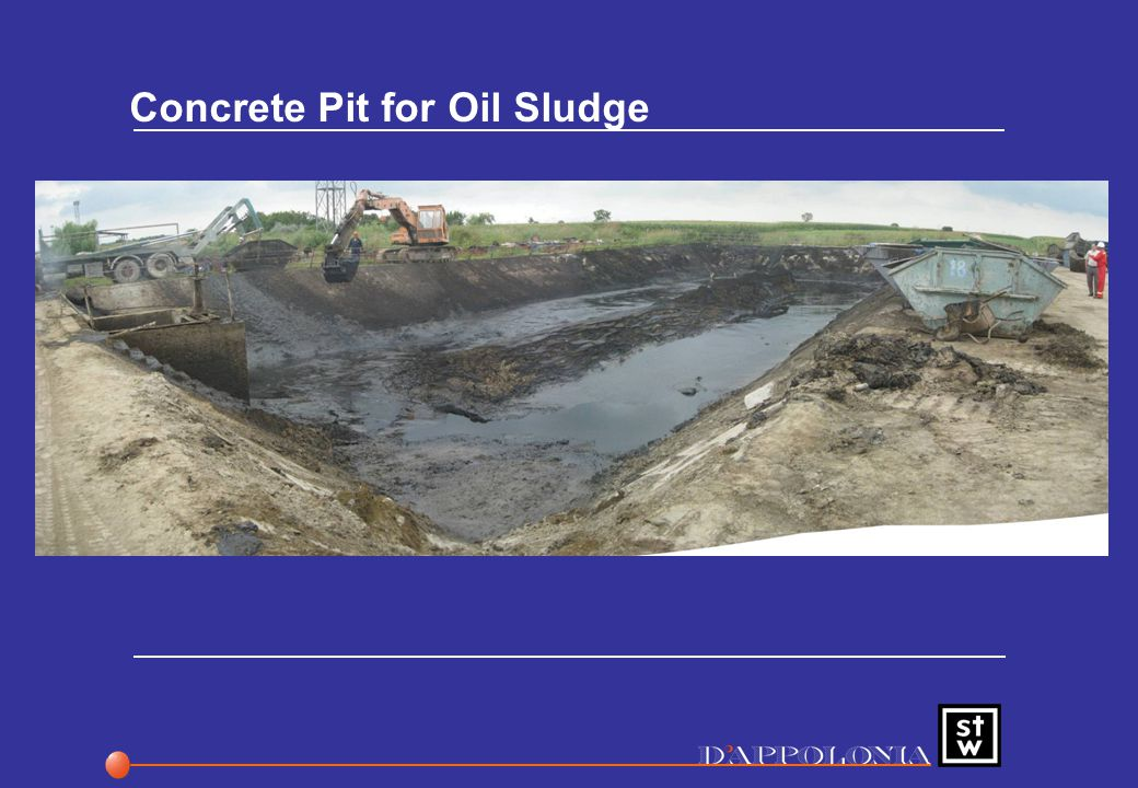 Concrete Pit for Oil Sludge