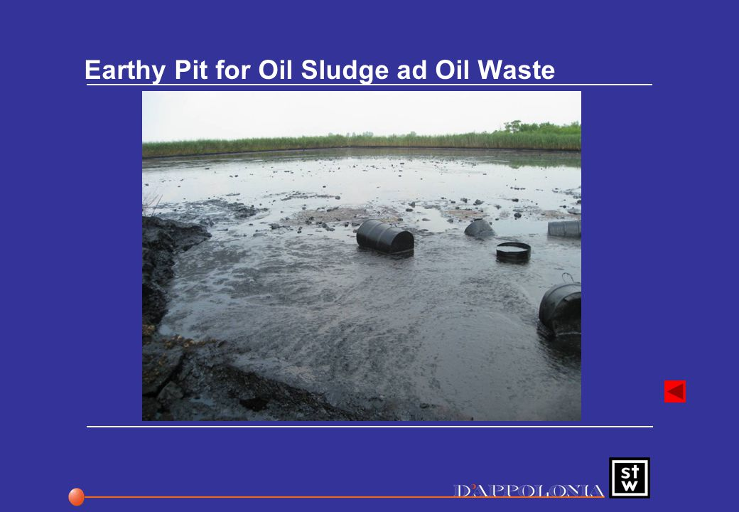 Earthy Pit for Oil Sludge ad Oil Waste