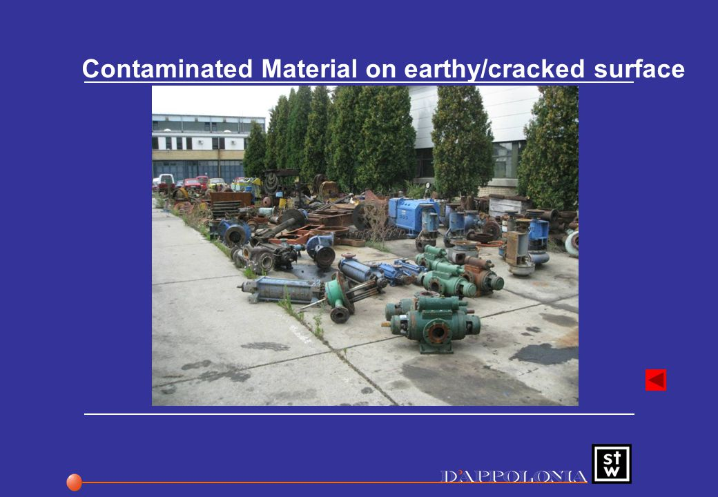 Contaminated Material on earthy/cracked surface