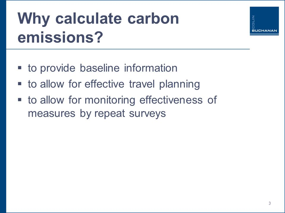 3 Why calculate carbon emissions.