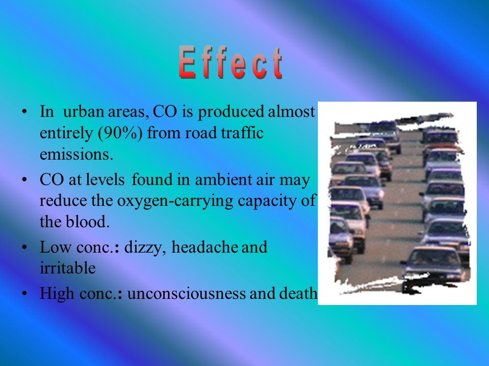 Carbon monoxide (CO) is a toxic gas emitted into the atmosphere by incomplete combustion processes formed by the oxidation of hydrocarbons and other organic compounds.
