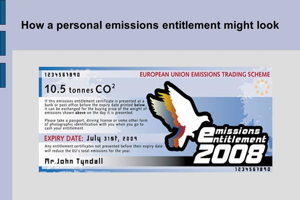 How a personal emissions entitlement might look