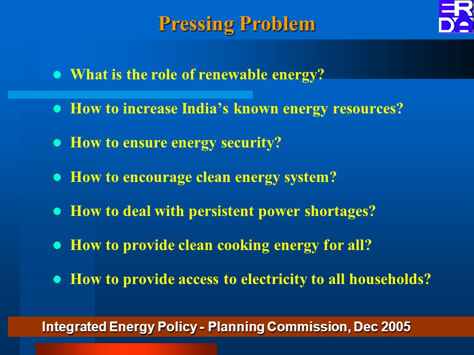 What is the role of renewable energy.How to increase India's known energy resources.
