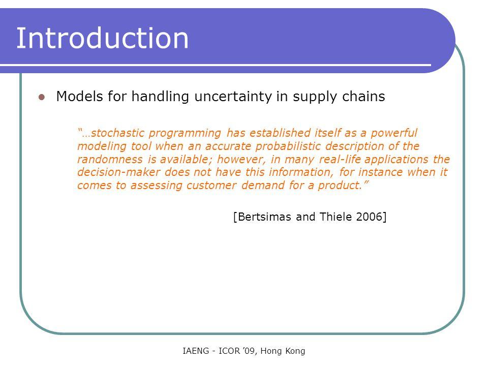 IAENG - ICOR '09, Hong Kong Optimization Algorithms The formulation results in tractable models Classical MCF: natural formulation.