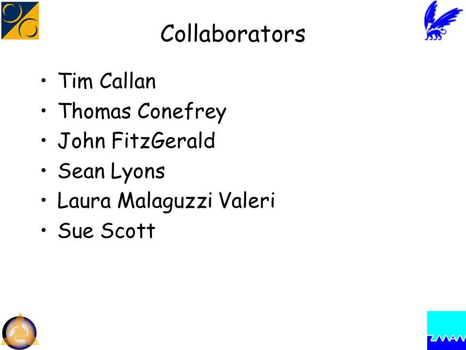 Collaborators Tim Callan Thomas Conefrey John FitzGerald Sean Lyons Laura Malaguzzi Valeri Sue Scott