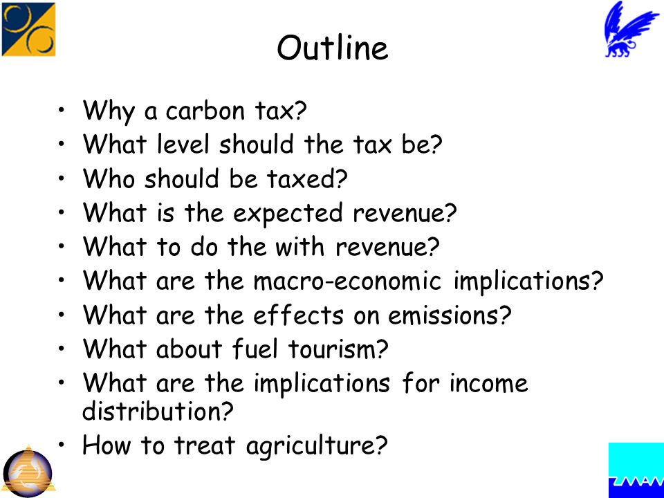 Outline Why a carbon tax. What level should the tax be.