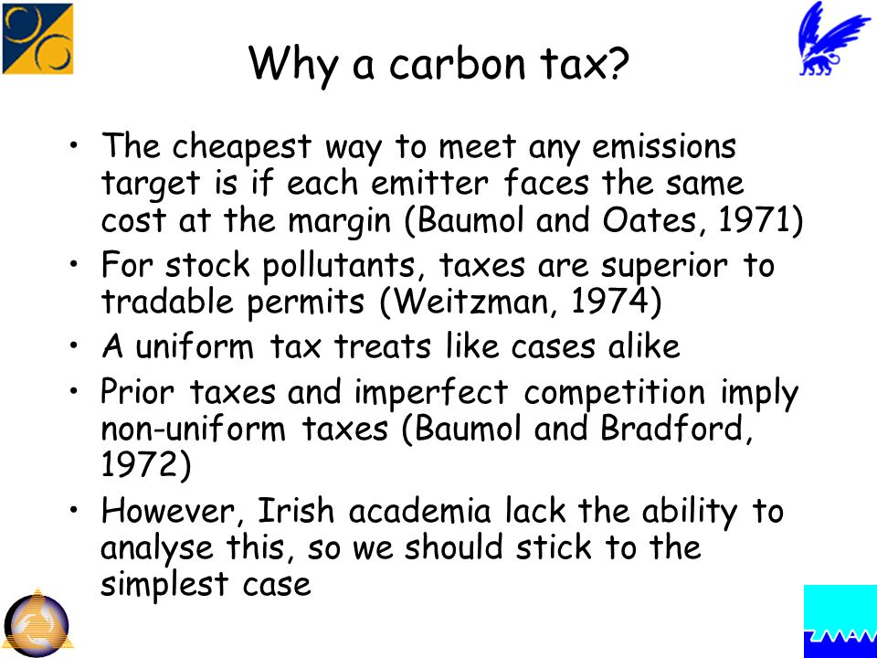 Why a carbon tax.