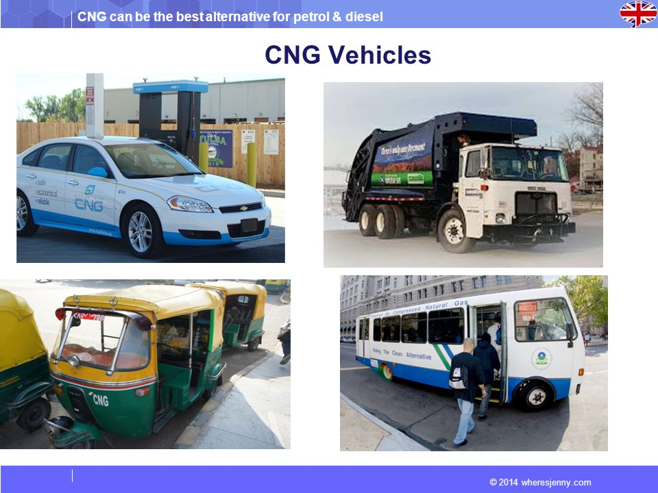 CNG can be the best alternative for petrol & diesel © 2014 wheresjenny.com CNG Vehicles