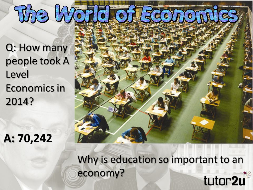 Q: How many people took A Level Economics in 2014.