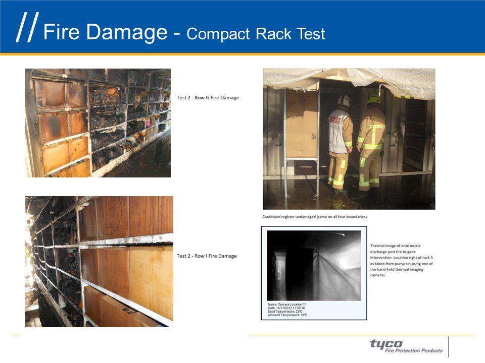 Fire Damage - Compact Rack Test 26