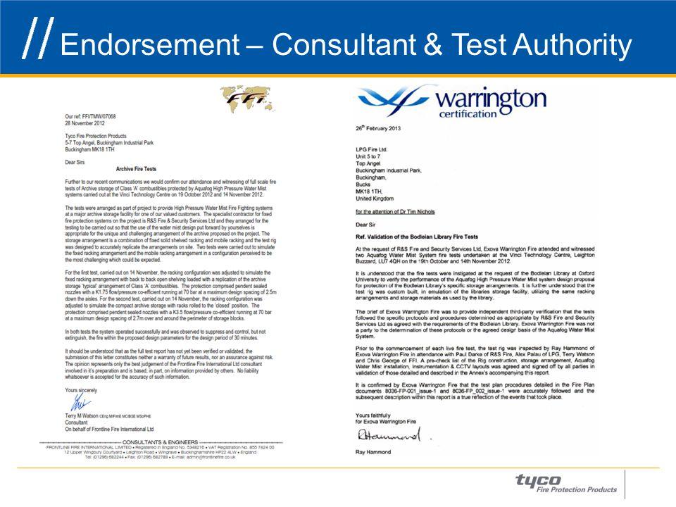 Endorsement – Consultant & Test Authority 27