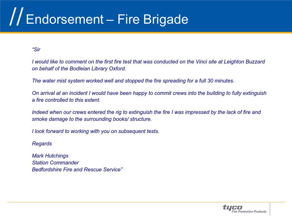 Endorsement – Fire Brigade 28