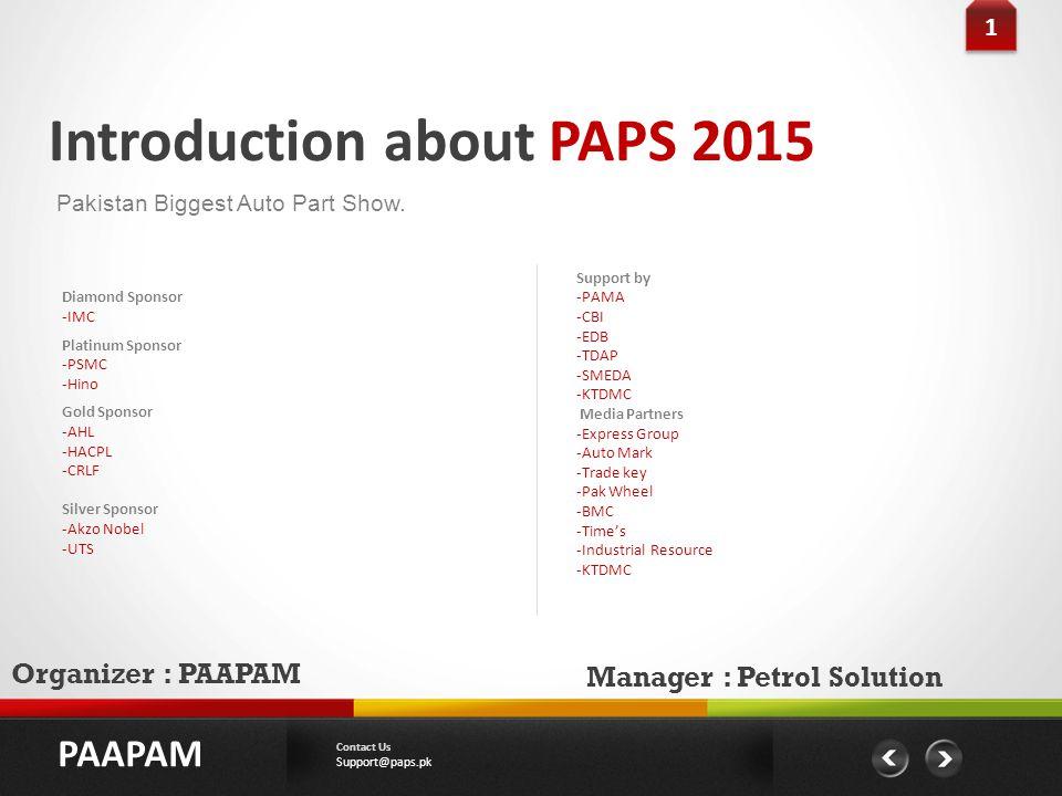 Introduction about PAPS 2015 Pakistan Biggest Auto Part Show.