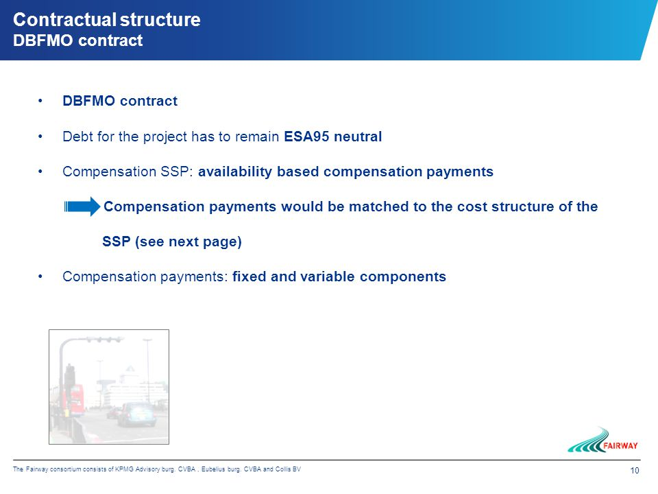 10 The Fairway consortium consists of KPMG Advisory burg.