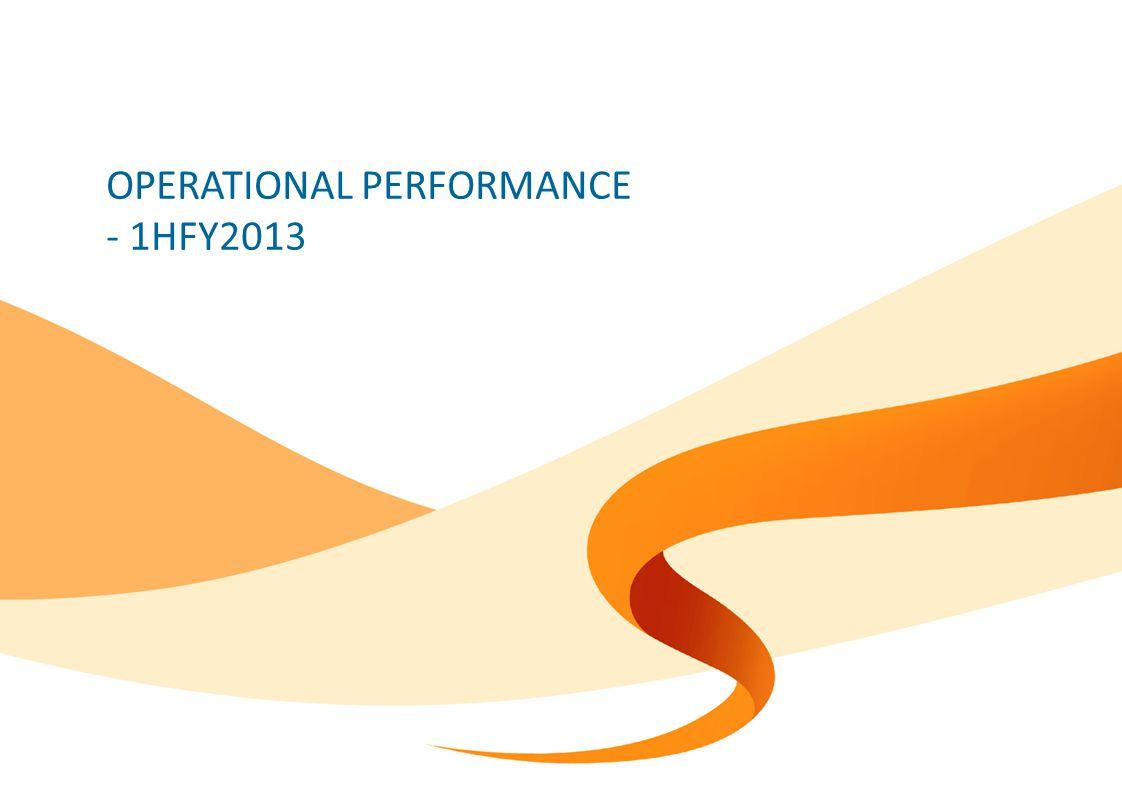 OPERATIONAL PERFORMANCE - 1HFY2013