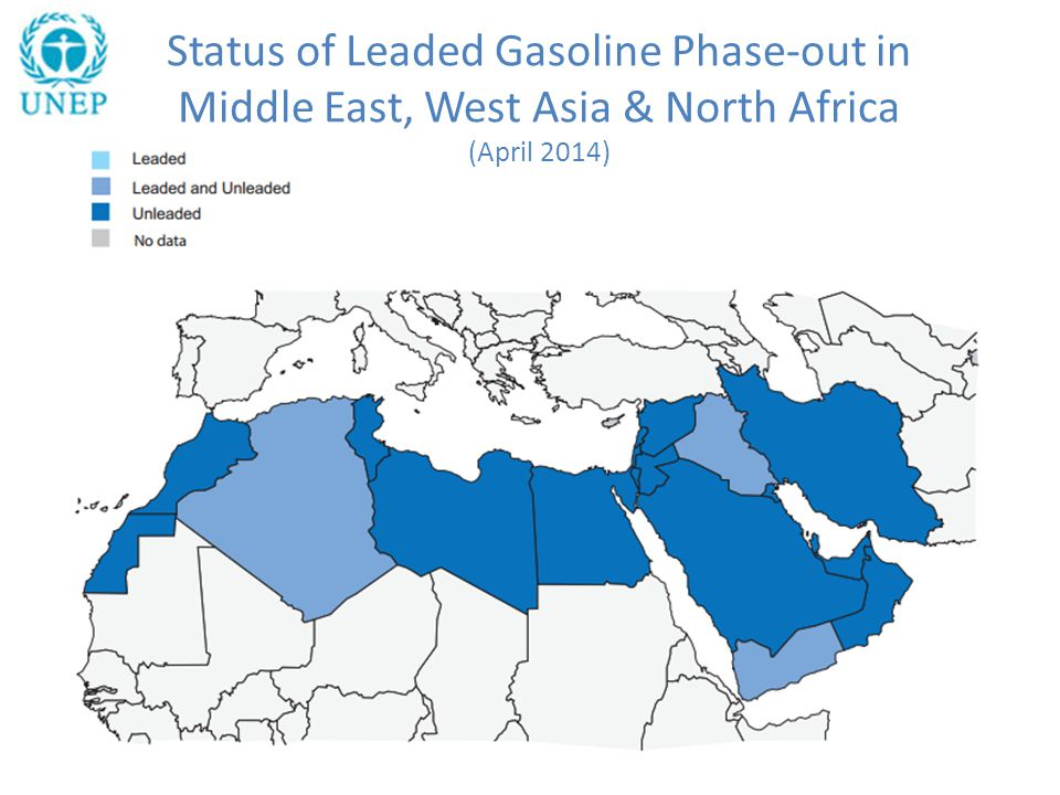 Status of Leaded Gasoline Phase-out in Middle East, West Asia & North Africa (April 2014)