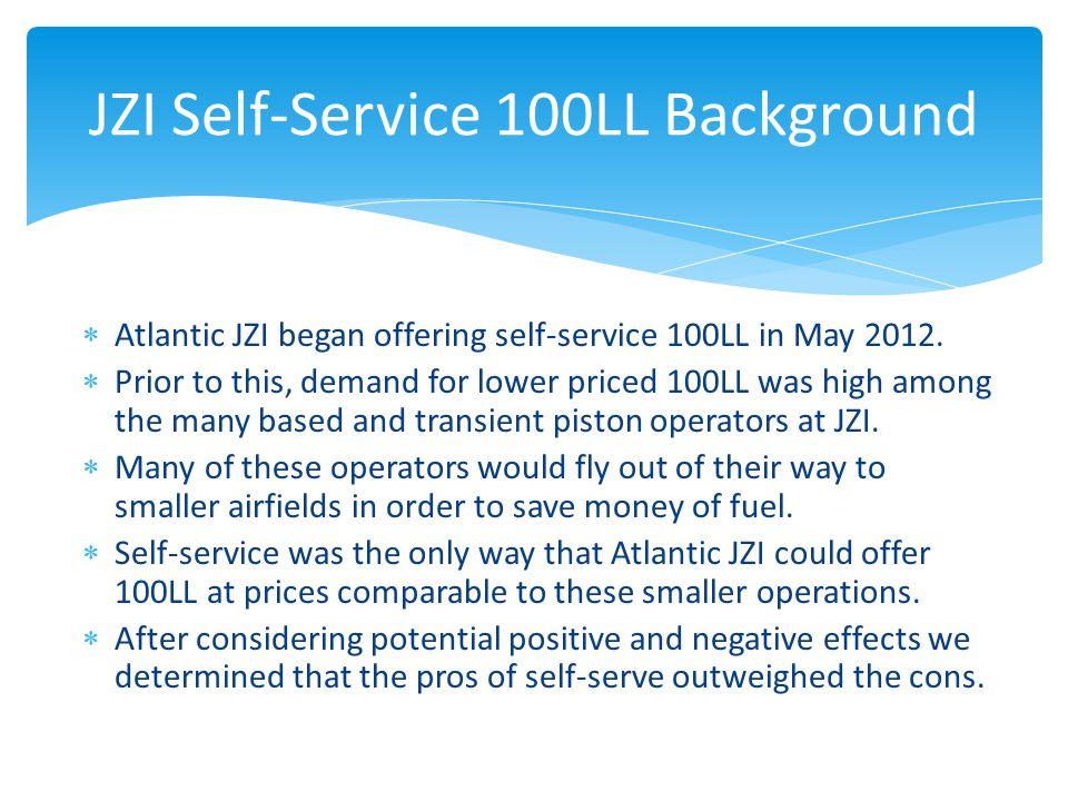  Atlantic JZI began offering self-service 100LL in May 2012.
