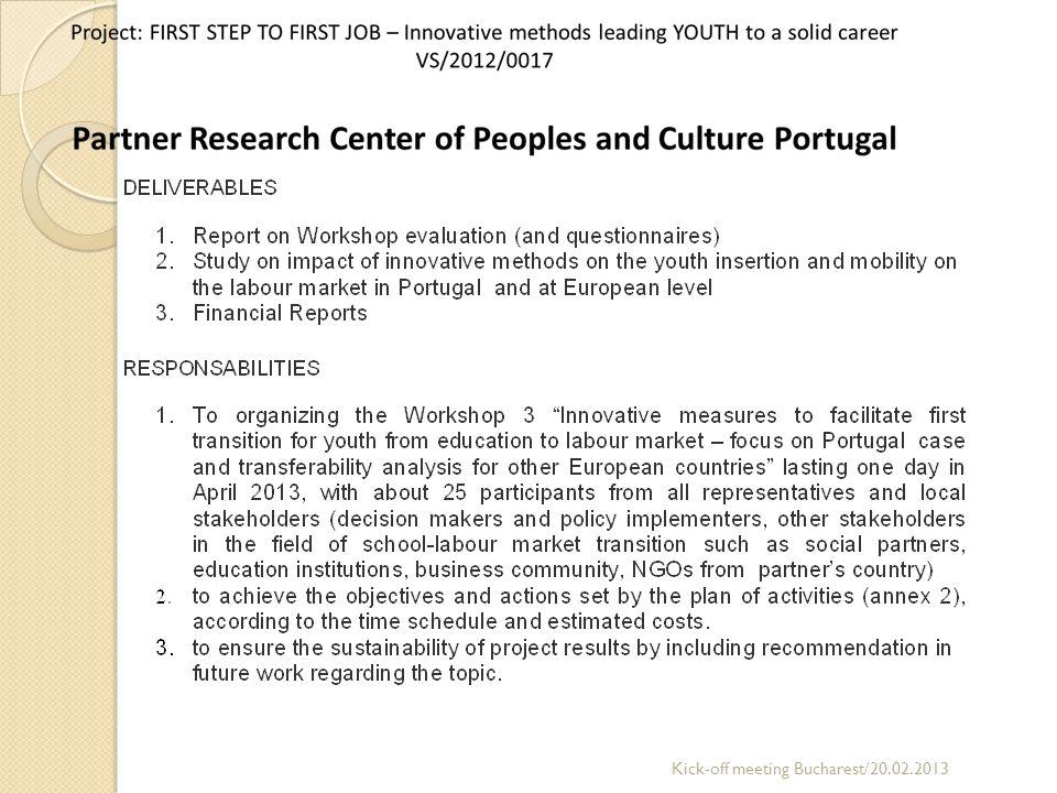 Partner OSB Consulting GmbH Kick-off meeting Bucharest/20.02.2013