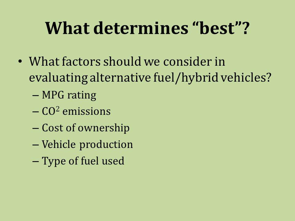 What determines best .